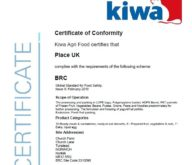 Place UK awarded AA+ grade from the recent BRC audit